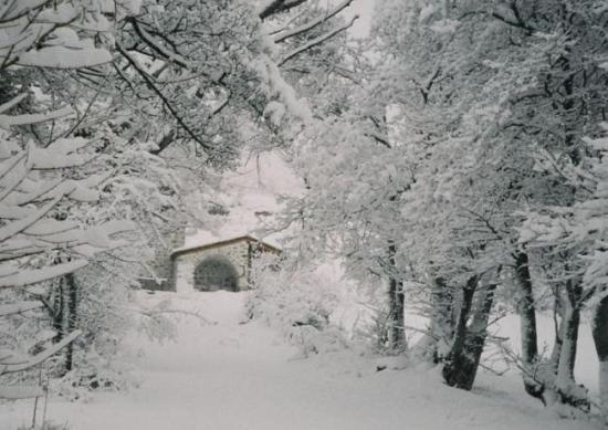Le lavoir sous la neige